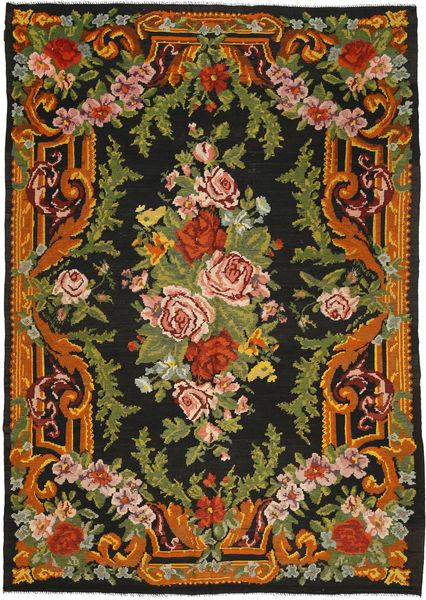 Kilim Rose Szőnyeg 247X347 Keleti Kézi Szövésű Fekete/Sötétzöld (Gyapjú, Moldova)