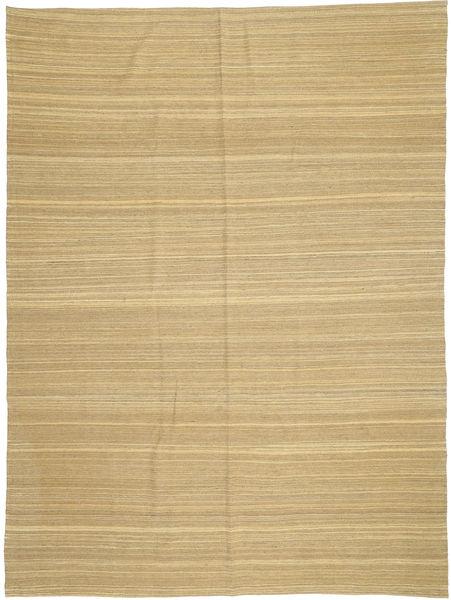 Kilim Modern Szőnyeg 210X279 Modern Kézi Szövésű Sötét Bézs/Sárga (Gyapjú, Afganisztán)