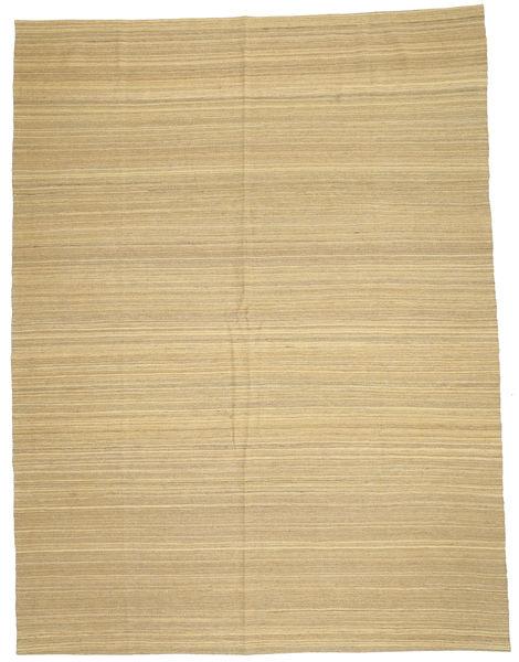 Kilim Modern Szőnyeg 212X280 Modern Kézi Szövésű Sötét Bézs/Sárga (Gyapjú, Afganisztán)