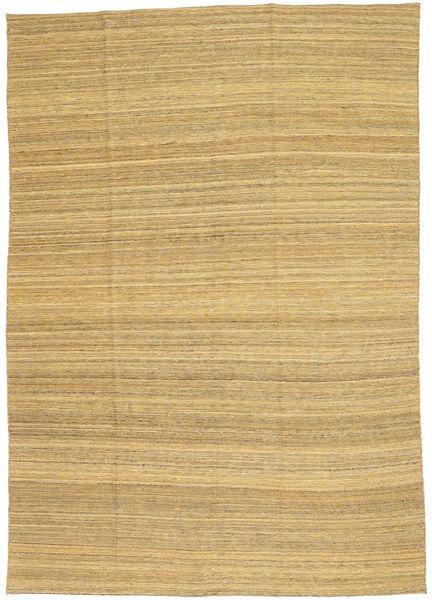 Kilim Modern Szőnyeg 199X283 Modern Kézi Szövésű Sötét Bézs/Sárga (Gyapjú, Afganisztán)