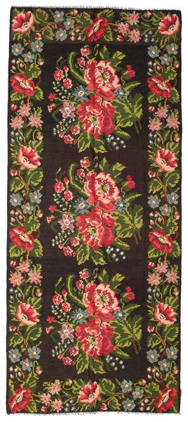 Kilim Rose Moldavia Szőnyeg 165X287 Keleti Kézi Szövésű Fekete/Sötétzöld (Gyapjú, Moldova)