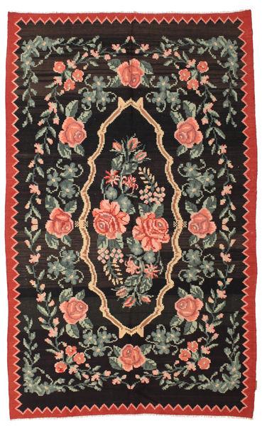 Kilim Rose Moldavia Szőnyeg 166X268 Keleti Kézi Szövésű Fekete/Sötétszürke (Gyapjú, Moldova)