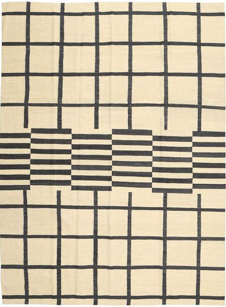 Kilim Modern Szőnyeg 210X285 Modern Kézi Szövésű Bézs/Sárga/Fekete (Gyapjú, Afganisztán)