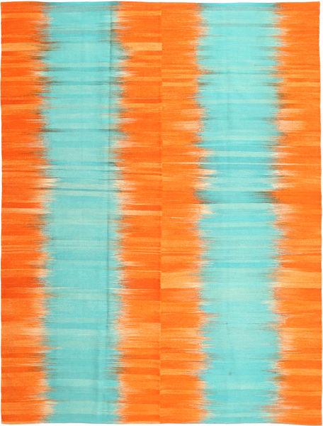 Kilim Modern Szőnyeg 216X286 Modern Kézi Szövésű Narancssárga/Türkiz Kék (Gyapjú, Afganisztán)