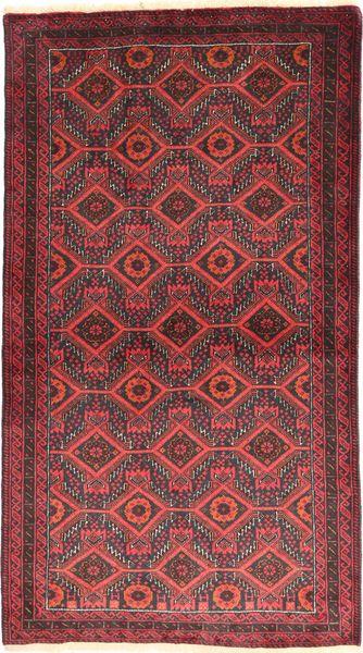 Balouch Szőnyeg 105X186 Keleti Csomózású Sötétpiros/Rozsdaszín (Gyapjú, Perzsia/Irán)