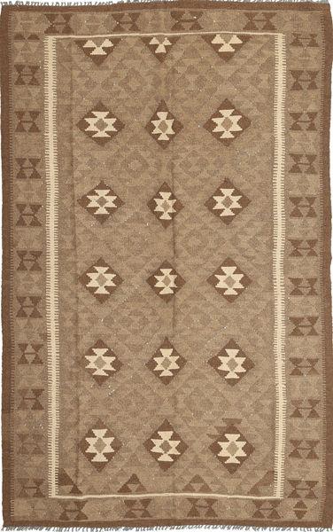 Kilim Maimane Szőnyeg 154X251 Keleti Kézi Szövésű Barna/Világosbarna (Gyapjú, Afganisztán)