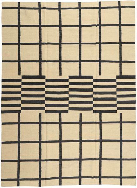 Kilim Modern Szőnyeg 209X286 Modern Csomózású Bézs/Sötétszürke (Gyapjú, Afganisztán)