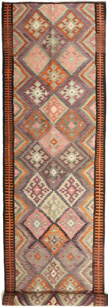 Kilim Fars Szőnyeg 158X830 Keleti Kézi Szövésű Sötétpiros/Világosbarna (Gyapjú, Perzsia/Irán)
