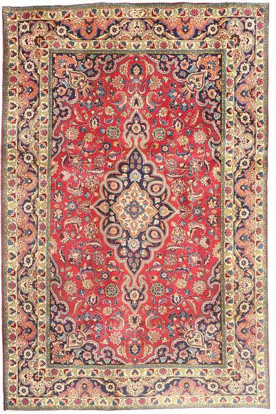 Tabriz Szőnyeg 194X290 Keleti Csomózású Rozsdaszín/Sötétszürke (Gyapjú, Perzsia/Irán)