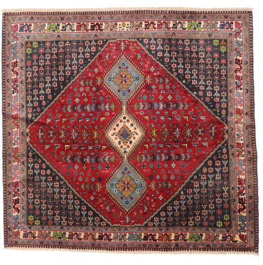 Yalameh Szőnyeg 192X200 Keleti Csomózású Szögletes Sötétpiros/Sötétbarna (Gyapjú, Perzsia/Irán)