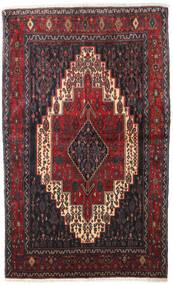 Senneh Szőnyeg 128X210 Keleti Csomózású Sötétbarna/Sötétpiros (Gyapjú, Perzsia/Irán)