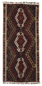 Kilim Malatya Szőnyeg 186X391 Keleti Kézi Szövésű Sötétbarna/Világosbarna (Gyapjú, Törökország)