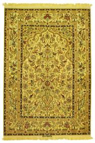 Isfahan Selyem Láncfonal Figurák/Képek Aláírás: Nasr Szőnyeg 142X210 Keleti Csomózású (Gyapjú/Selyem, Perzsia/Irán)