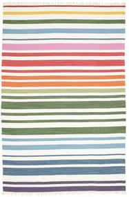 Rainbow Stripe - White Szőnyeg 200X300 Modern Kézi Szövésű Bézs/Krém (Pamut, India)