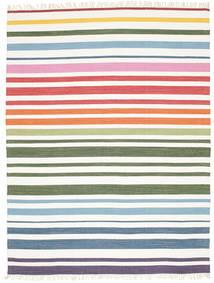 Rainbow Stripe - White Szőnyeg 200X250 Modern Kézi Szövésű Bézs/Bézs/Krém (Pamut, India)