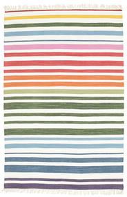 Rainbow Stripe - White Szőnyeg 140X200 Modern Kézi Szövésű Bézs/Krém/Bézs (Pamut, India)
