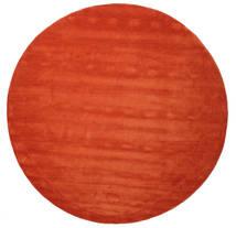 Handloom - Rozsdaszín/Piros Szőnyeg Ø 300 Modern Kerek Rozsdaszín/Narancssárga Nagy (Gyapjú, India)