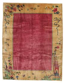 Kínai Antik: Art Deco 1920 Szőnyeg 275X360 Keleti Csomózású Világosbarna/Piros/Sötétpiros Nagy (Gyapjú, Kína)