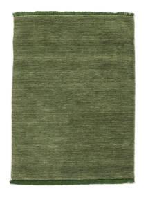 Handloom Fringes - Zöld Szőnyeg 140X200 Modern Olívazöld/Sötétzöld (Gyapjú, India)
