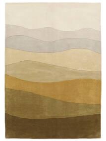 Feeling Handtufted - Barna Szőnyeg 160X230 Modern Sötét Bézs/Olívazöld (Gyapjú, India)