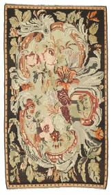 Kilim Rose Szőnyeg 180X315 Keleti Kézi Szövésű Barna/Sötét Bézs (Gyapjú, Moldova)