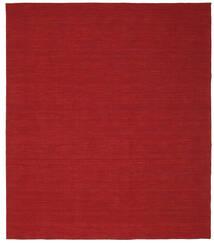 Kilim Loom - Sötétpiros Szőnyeg 250X300 Modern Kézi Szövésű Piros Nagy (Gyapjú, India)