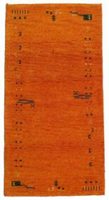 Gabbeh Indiai Szőnyeg 71X140 Modern Csomózású Narancssárga/Világosbarna (Gyapjú, India)