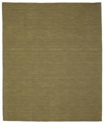 Kilim Loom - Olíva Szőnyeg 250X300 Modern Kézi Szövésű Olívazöld Nagy (Gyapjú, India)