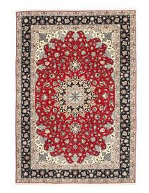 Tabriz 50 Raj Selyemfonal Szőnyeg 200X310 Keleti Csomózású Világosszürke/Sötétszürke (Gyapjú/Selyem, Perzsia/Irán)