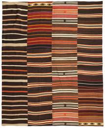 Kilim Patchwork Szőnyeg 242X298 Modern Kézi Szövésű Sötétbarna/Piros (Gyapjú, Törökország)