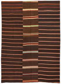 Kilim Patchwork Szőnyeg 175X241 Modern Kézi Szövésű Sötétbarna/Sötétpiros (Gyapjú, Törökország)
