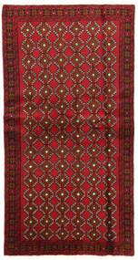Balouch Szőnyeg 100X191 Keleti Csomózású Sötétpiros/Sötétbarna (Gyapjú, Perzsia/Irán)