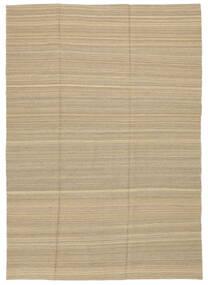 Kilim Modern Szőnyeg 204X286 Modern Kézi Szövésű Sötét Bézs/Bézs (Gyapjú, Afganisztán)