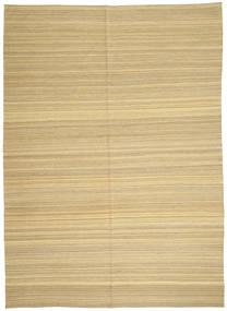 Kilim Modern Szőnyeg 206X287 Modern Kézi Szövésű Sötét Bézs/Bézs (Gyapjú, Afganisztán)