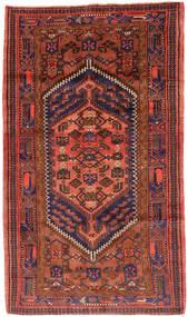 Hamadán Szőnyeg 143X247 Keleti Csomózású Sötétpiros/Piros (Gyapjú, Perzsia/Irán)
