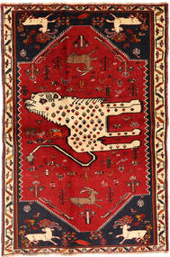 Qashqai Szőnyeg 134X211 Keleti Csomózású Sötétpiros/Rozsdaszín (Gyapjú, Perzsia/Irán)