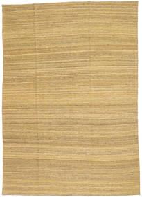 Kilim Modern Szőnyeg 199X283 Modern Kézi Szövésű Sötét Bézs/Világosbarna (Gyapjú, Afganisztán)
