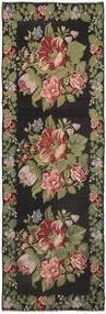 Kilim Rose Moldavia Szőnyeg 170X530 Keleti Kézi Szövésű Sötétszürke/Sötétbarna (Gyapjú, Moldova)