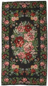Kilim Rose Moldavia Szőnyeg 215X413 Keleti Kézi Szövésű Sötétszürke/Sötétzöld (Gyapjú, Moldova)