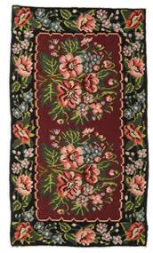 Kilim Rose Moldavia Szőnyeg 152X270 Keleti Kézi Szövésű Sötétpiros/Sötétbarna (Gyapjú, Moldova)