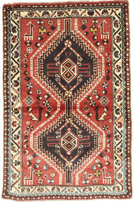Qashqai Szőnyeg 97X150 Keleti Csomózású Sötétbarna/Sötétpiros (Gyapjú, Perzsia/Irán)