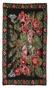 Kilim Rose Moldavia Szőnyeg 170X310 Keleti Kézi Szövésű Fekete/Sötétpiros (Gyapjú, Moldova)