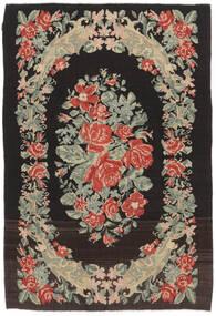 Kilim Rose Moldavia Szőnyeg 169X252 Keleti Kézi Szövésű Fekete/Sötét Bézs (Gyapjú, Moldova)
