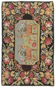 Kilim Rose Moldavia Szőnyeg 178X295 Keleti Kézi Szövésű Sötétszürke/Sötét Bézs (Gyapjú, Moldova)