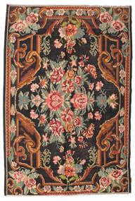 Kilim Rose Moldavia Szőnyeg 184X277 Keleti Kézi Szövésű Fekete/Sötétszürke (Gyapjú, Moldova)