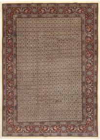 Moud Sherkat Farsh Szőnyeg 203X283 Keleti Csomózású Világosszürke/Sötétpiros (Gyapjú/Selyem, Perzsia/Irán)