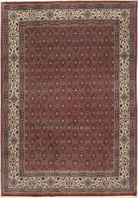 Moud Sherkat Farsh Szőnyeg 201X292 Keleti Csomózású Sötétpiros/Sötétszürke (Gyapjú/Selyem, Perzsia/Irán)