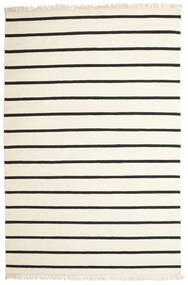 Dorri Stripe - White/Fekete Szőnyeg 200X300 Modern Kézi Szövésű Bézs/Sötétszürke (Gyapjú, India)