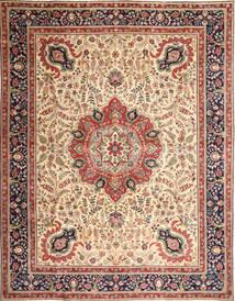 Tabriz Patina Szőnyeg 305X390 Keleti Csomózású Világosbarna/Bézs Nagy (Gyapjú, Perzsia/Irán)