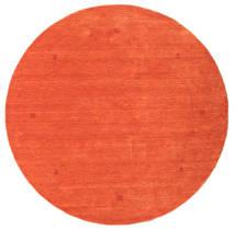 Loribaf Loom Szőnyeg Ø 202 Modern Csomózású Kerek Narancssárga/Piros (Gyapjú, India)